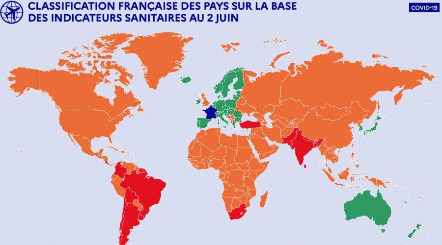 Stratégie de réouverture des frontières en France à partir du 9 juin